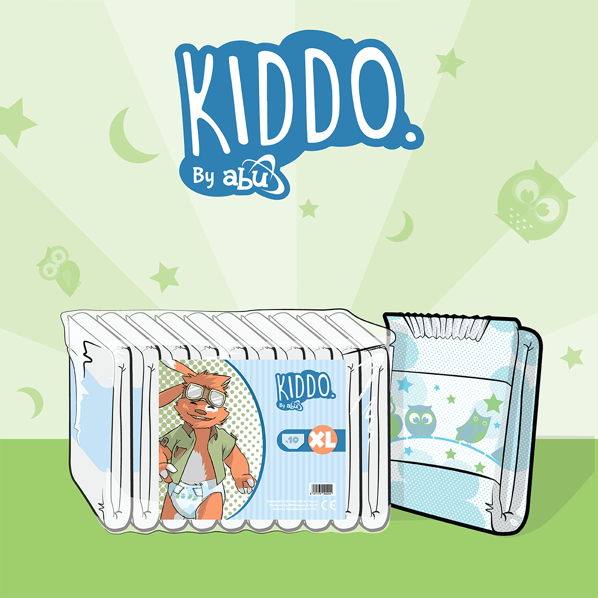 Small Pack of 10 ABU SDK Diapers