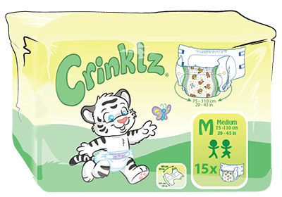 ABUniverse Crinklz Diapers